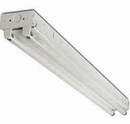 2 Light 24 Inch Premium Industrial Commercial Grade T8 Fluorescent Fixture  With Electronic Ballast And